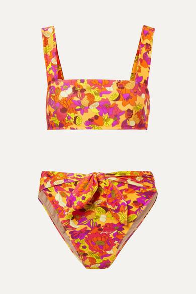 Printed Bikini, Yellow