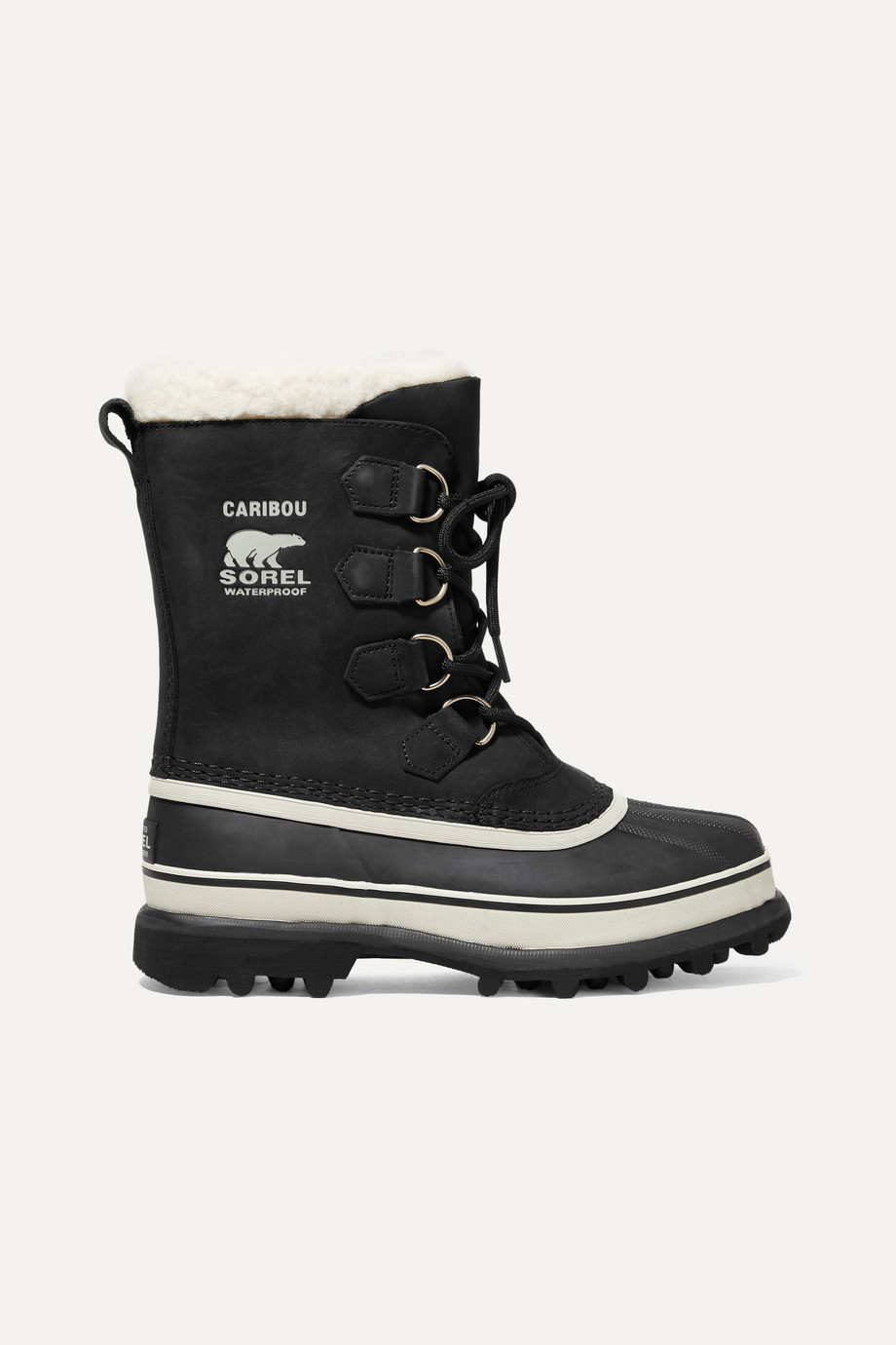 SOREL Caribou waterproof nubuck and rubber boots