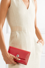 Anouk Envelope textured-leather clutch