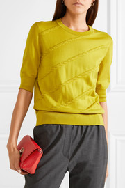 Anouk Little Day textured-leather clutch