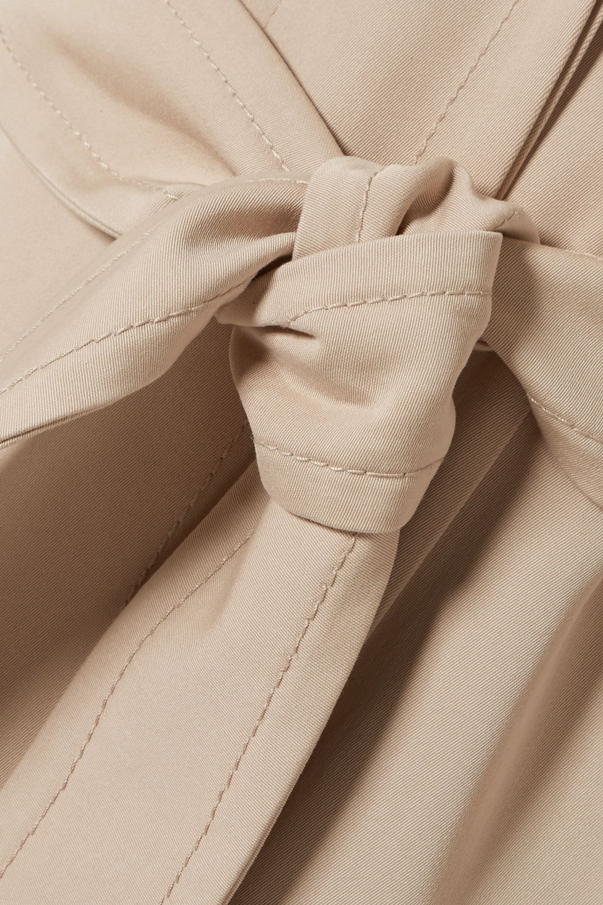 Akris Teri belted cotton and silk-blend coat