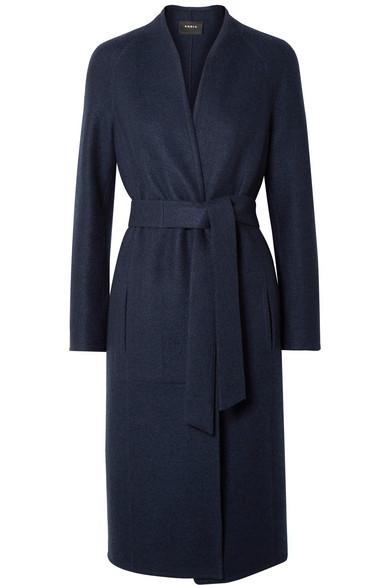 Tadano Cashmere-Felt Coat, Navy