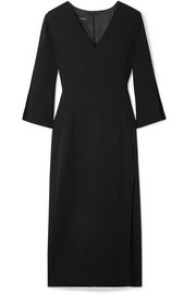 Akris Wool-blend crepe midi dress