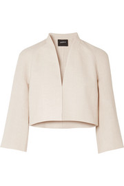 Akris Romain linen and wool-blend jacket