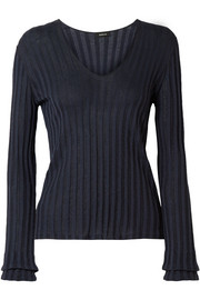 Akris Ribbed silk-blend sweater