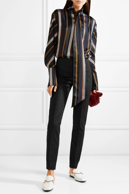 Akris Melissa stretch cotton-blend slim-leg pants