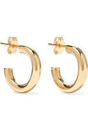 Chubbie Huggies 10-karat gold hoop earrings