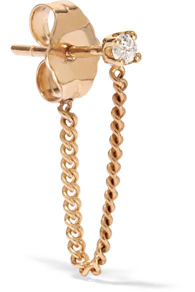 14-karat Gold Diamond Ear Cuff - one size Loren Stewart