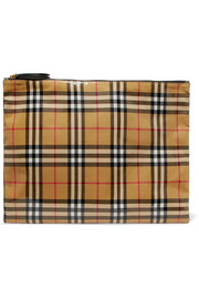 Burberry Checked coated-poplin pouch