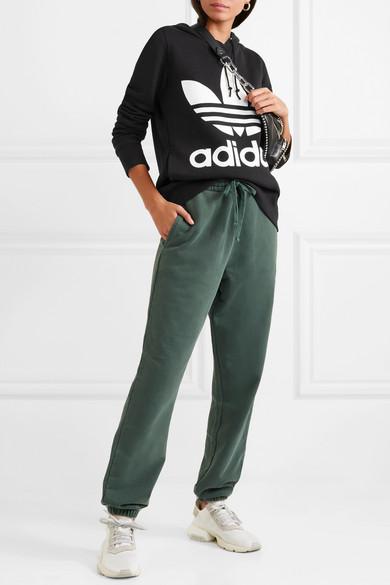 adidas Originals   Trefoil bedruckter Hoodie aus Baumwoll-Jersey ... 50c986bbbe