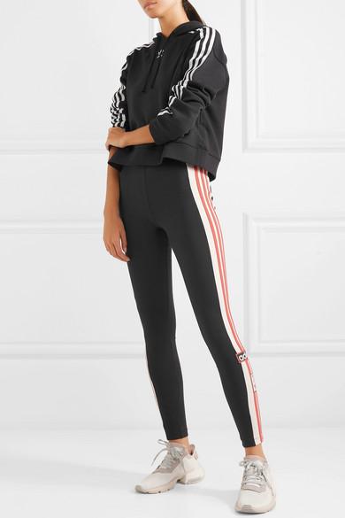 adidas Originals. Leggings aus Baumwoll-Jersey mit Stretch-Anteil und  Streifen 7829370da0