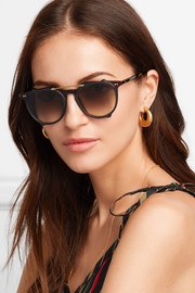 Odin round-frame tortoiseshell acetate and gold-tone sunglasses