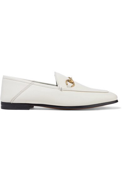 39e7dc8dd6a Gucci. Brixton horsebit-detailed leather collapsible-heel loafers