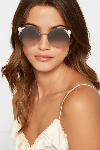 Round-frame embellished sunglasses Miu Miu UxvvDD0DyE
