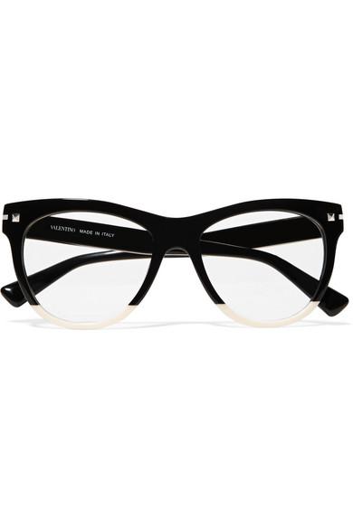 ad551d26d9 Valentino. Valentino Garavani two-tone acetate cat-eye optical glasses