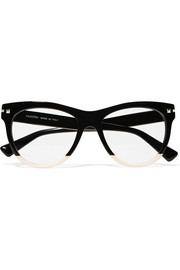 Valentino Valentino Garavani two-tone acetate cat-eye optical glasses