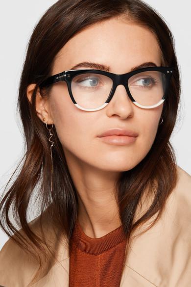 9bc86c2f26 Valentino Garavani two-tone acetate cat-eye optical glasses