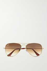Aviator gold-tone sunglasses