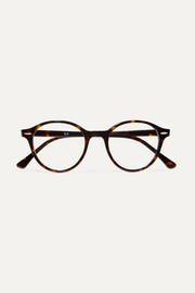 Ray-Ban Dean round-frame tortoiseshell acetate optical glasses