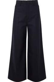 Dana wool-blend wide-leg pants