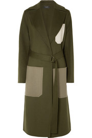 Joseph Color-block wool and cashmere-blend coat