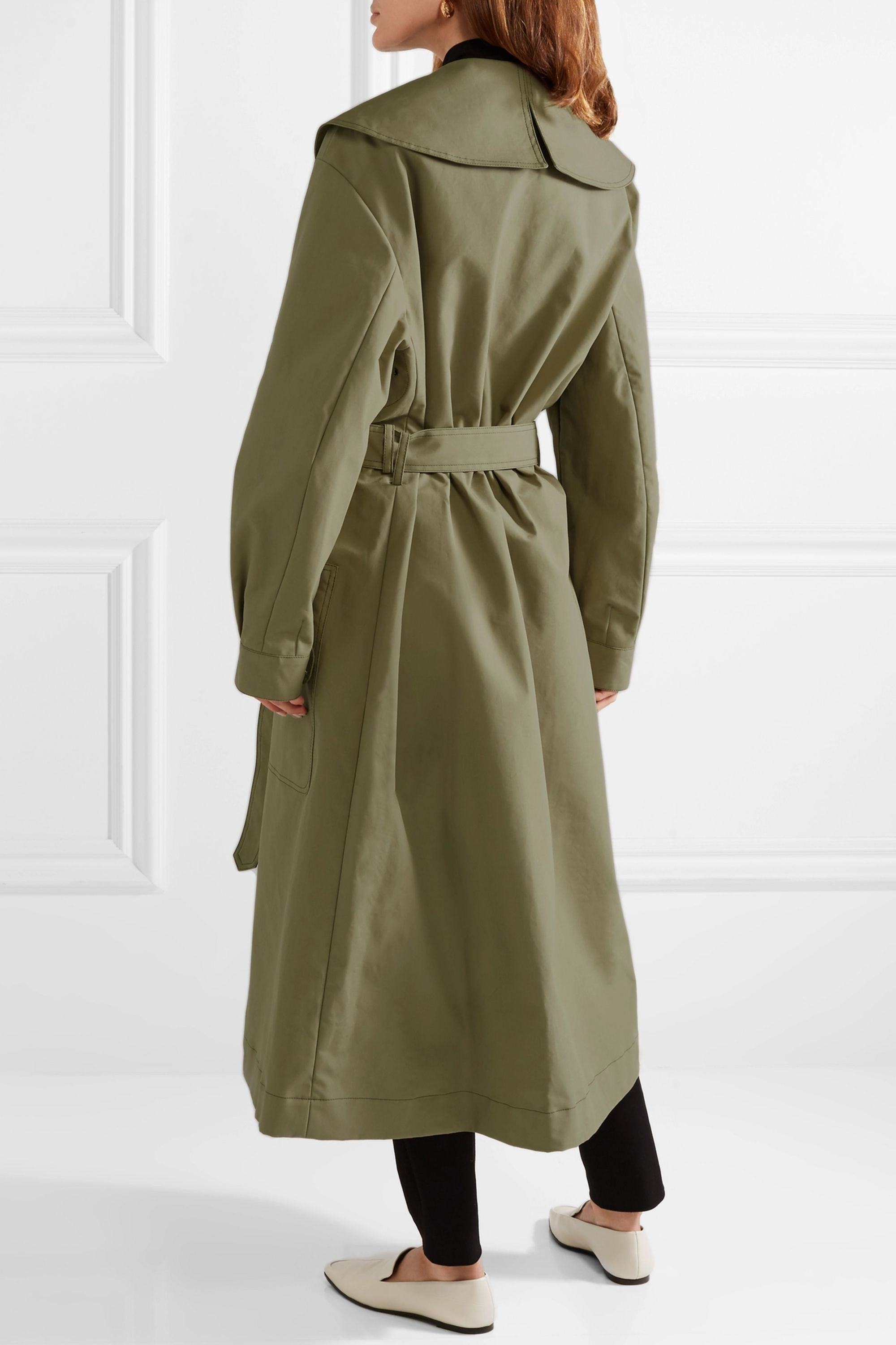 Joseph Damon oversized cotton-garbardine trench coat