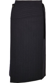 Joseph Aiken pinstriped wool wrap skirt