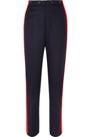 Annam striped wool and cashmere-blend felt straight-leg pants
