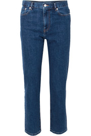 Taren high-rise straight-leg jeans