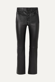 Joseph Den leather straight-leg pants
