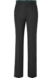 Tropez stretch-twill straight-leg pants