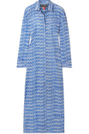 Printed cotton-voile maxi dress