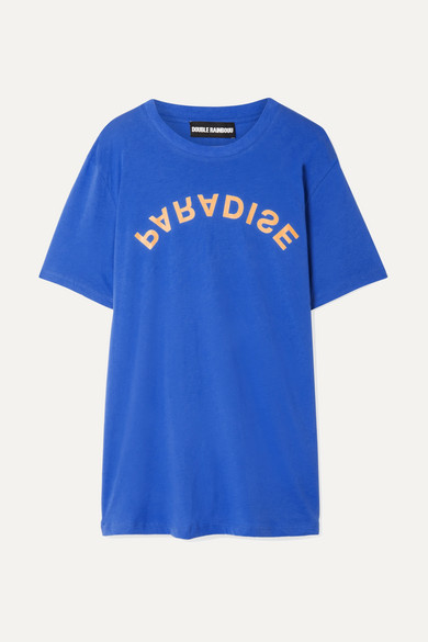 Printed Cotton Jersey T Shirt by Double Rainbouu