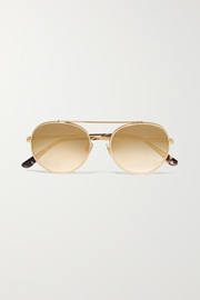 Aviator-style gold-tone sunglasses