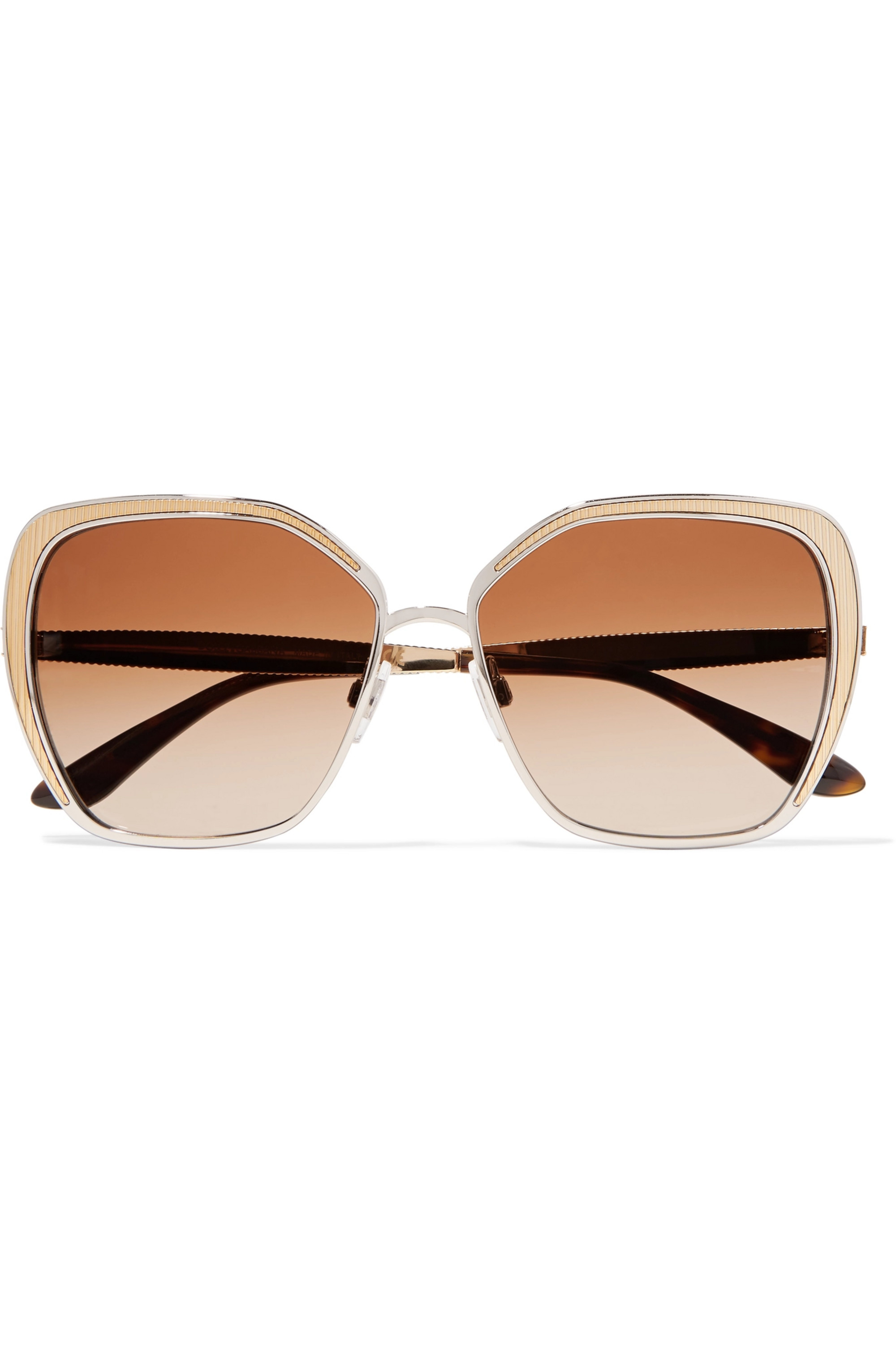 Dolce & Gabbana Butterfly-frame silver and gold-tone sunglasses