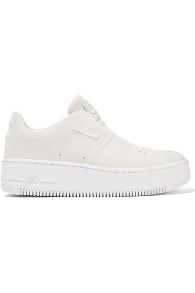 bas prix 26a09 537e6 Baskets sans lacets en daim The 1 Reimagined NikeLab Air Force 1 Sage