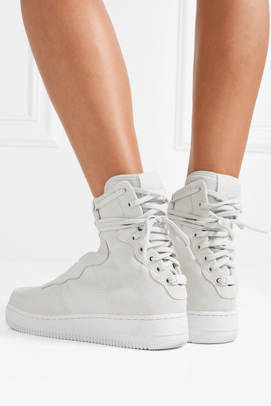 a24ad57d331 Nike. The 1 Reimagined Air Force 1 Rebel XX suede and leather high-top  sneakers.  112. Zoom In