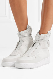 The 1 Reimagined Air Force 1 Rebel XX suede and leather high-top sneakers