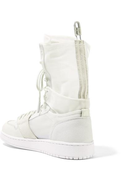 Günstig Kaufen Erstaunlichen Preis Auf Dem Laufenden Nike The 1 Reimagined Air Jordan 1 Explorer Sneakers aus Leder und Mesh mit Velourslederbesätzen je7OTUth