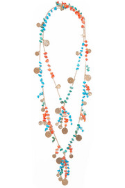 Vento gold-tone beaded necklace