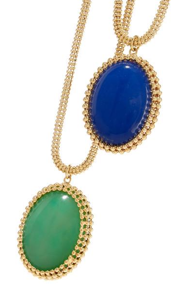 Rosantica Vita Set Of Two Reversible Gold-tone Resin Necklaces 1vXPoMbtem
