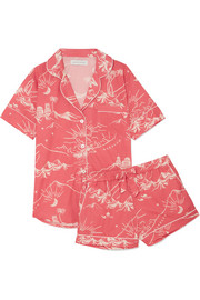 Printed cotton pyjama set