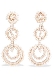Bibi Marini Sundrop mother-of-pearl, bead and silk earrings
