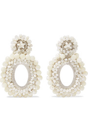 Bibi Marini Primrose mother-of-pearl, bead and silk earrings