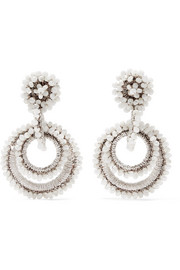 Bibi Marini Mini Sundrop mother-of-pearl, bead and silk earrings