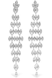 Silver and rhodium-plated crystal earrings