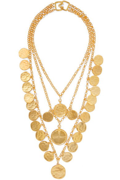 Gold Tone Necklace by Kenneth Jay Lane