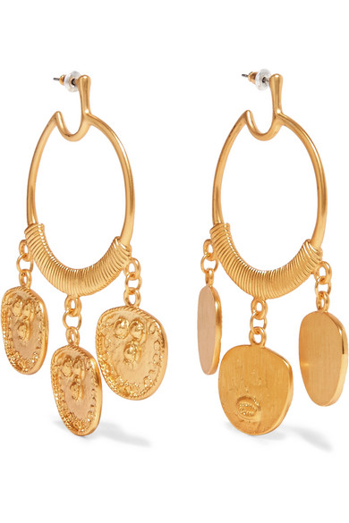 Gold-plated earrings