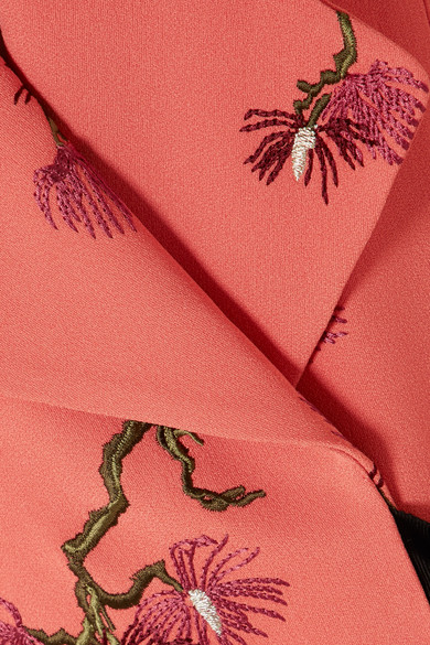 Embroidered Crepe Vest by Erdem