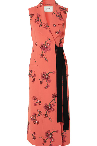Erdem - Embroidered Crepe Vest - Pink